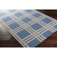 Hand-Hooked Carnaby Wool Area Rug - 4' x 6'