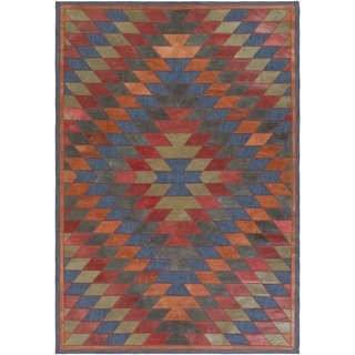 Papilio : Hand-Crafted Burma Leather/Cotton Rug (4' x 6')