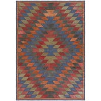 Hand-Crafted Burma Leather/Cotton Area Rug - 4' x 6'