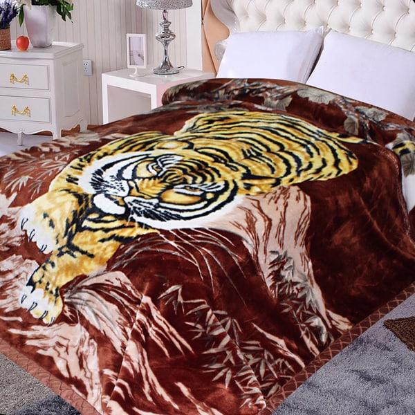 Shop Ultra Plush Korean Style Yellow Tiger Blanket Free