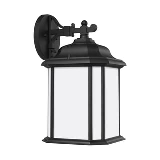 Sea Gull Kent 1 Light Black Outdoor Fixture