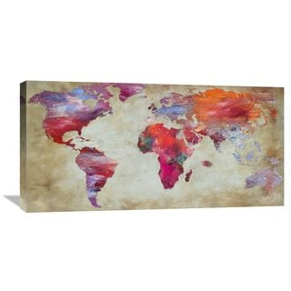 Global Gallery Joannoo 'World in Colors' Stretched Canvas Artwork