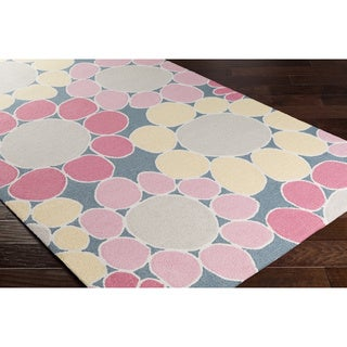 Hand-Hooked Chowk Poly Acrylic Rug (3' x 5')