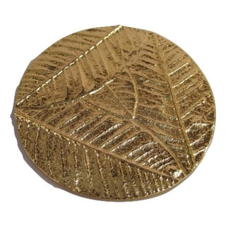 Elegance Gold-colored Luxury Coasters (Set of 4)
