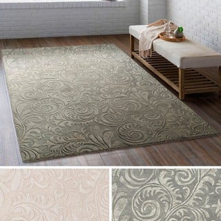 Hand-Tufted Connecticut Wool/ Viscose Rug (2' x 3')