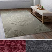 Hand-Tufted Congress Wool/ Viscose Area Rug - 8' x 10'