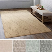 Hand-Tufted Commercial Wool/ Viscose Area Rug - 8' x 10'