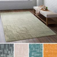 Hand-Tufted Columbine Wool/ Viscose Area Rug - 8' x 10'