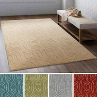 Hand-Tufted Colonial Wool/ Viscose Area Rug - 8' x 10'