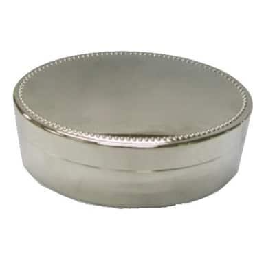Heim Concept Nickel Plated Oval Jewelry Box