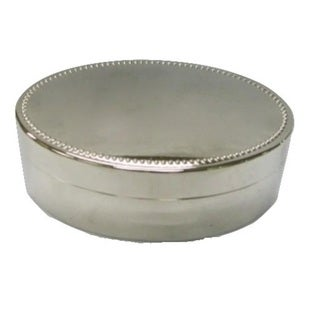 Elegance Nickel Plated Oval Jewelry Box