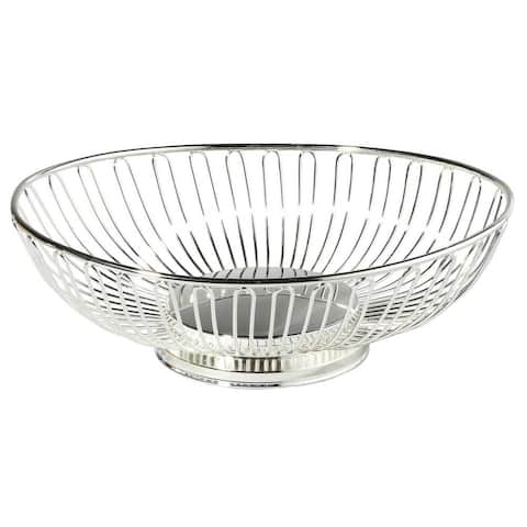 Heim Concept 11-inch Silver-plated Oval Basket