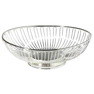 Elegance 11-inch Silver-plated Oval Basket
