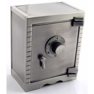 Heim Concept Pewter Finish Saftey Deposit Money Bank