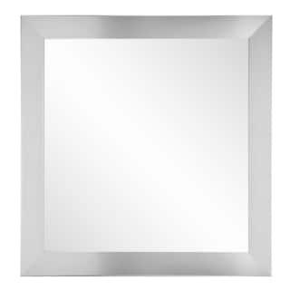 BrandtWorks Silver 32-inch Square Wall Mirror