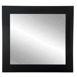 BrandtWorks Matte Black 32-inch Square Wall Mirror