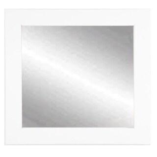 BrandtWorks Matte White 32-inch Square Wall Mirror