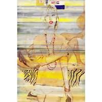 Parvez Taj - Casual Flair Painting Print on Canvas - Multi-color