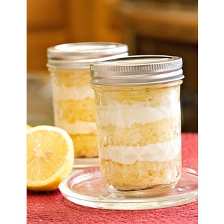 My Momma's Kitchen Luscious Lemon Cake in a Jar with Lemon Buttercream (Set of 4)