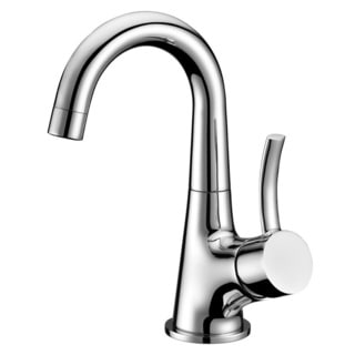 Dawn Chrome Finished Single-lever Lavatory Faucet with Standard Pull-up Drain with Lift Rod D90 0010C