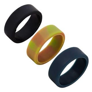 Silicone Wedding Bands (Set of 3)|https://ak1.ostkcdn.com/images/products/11130132/P18130644.jpg?impolicy=medium
