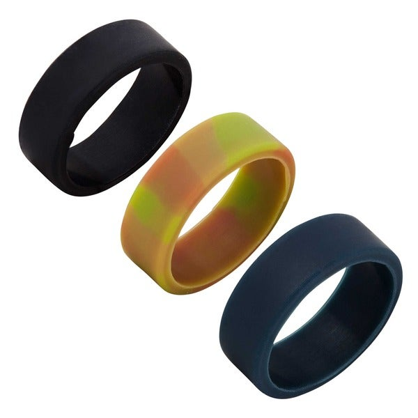 Silicone Wedding Ring.Shop Silicone Wedding Bands Set Of 3 On Sale Free Shipping On
