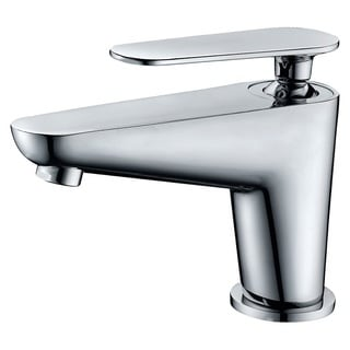 Dawn Single-lever Chrome Finished Lavatory Faucet with Standard Pull-up Drain and Lift Rod D90 0010C