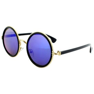 Epic Eyewear Sophisticated Double Wired Frame Reflective Lens Uv400 Steampunk Sunglasses