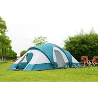 Semoo 9-Person 3-Room Family Tent with Large D-Style Door for Camping/ Traveling with Carry Bag