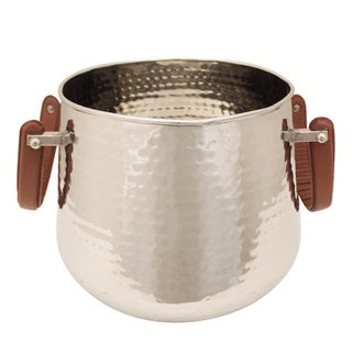 Party Essentials Stainless Steel Hammered Bucket Wine Cooler