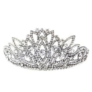 Kate Marie Cwn-8814 Silver Rhinestone Crown Tiara Headband