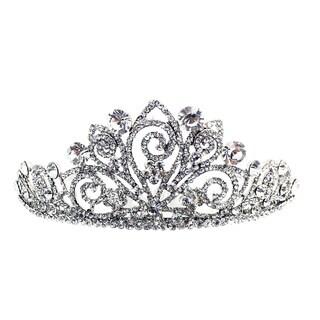 Kate Marie Cwn-8821 Silver Rhinestone Crown Tiara Headband