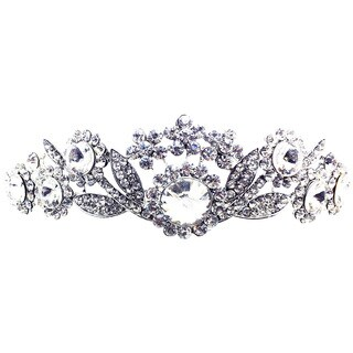 Kate Marie Cwn-9309 Silver Rhinestone Crown Tiara Headband