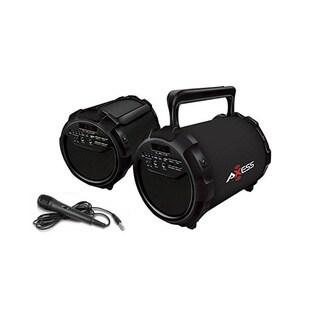 Axess SPBT1034 Portable Bluetooth Karaoke 2.1 Hi-Fi Black Speaker