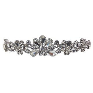 Kate Marie Cwn-9967 Silver Rhinestone Crown Tiara Headband