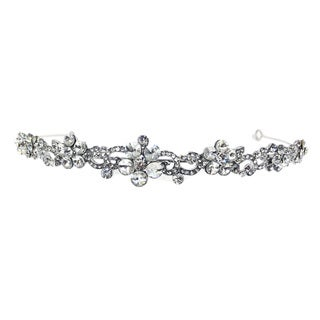 Kate Marie Cwn-10239 Silver Rhinestone Crown Tiara Headband