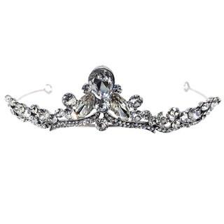 Kate Marie Cwn-10245 Silver Rhinestone Crown Tiara Headband