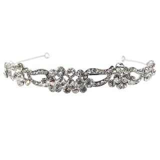 Kate Marie Cwn-10343 Silver Rhinestone Crown Tiara Headband