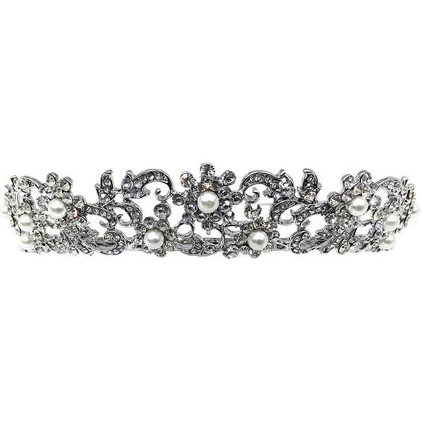 Kate Marie Cwn-10366 Silver Rhinestone Crown Tiara Headband