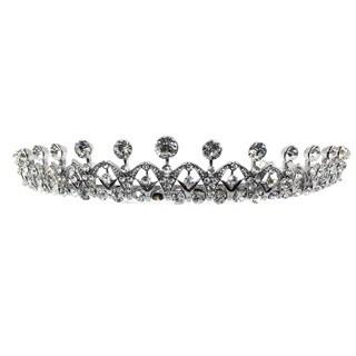 Kate Marie Cwn-10388 Silver Rhinestone Crown Tiara Headband