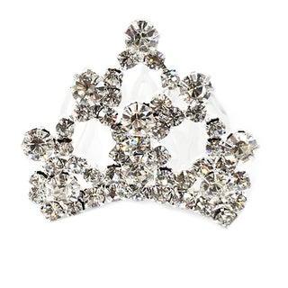Kate Marie Cwn-c3128 Rhinestone Silver Crown Tiara Comb