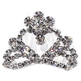 Kate Marie Cwn-c3134 Rhinestone Silver Crown Tiara Comb