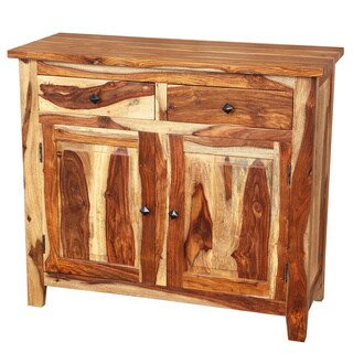 Handmade Porter Taos 2-door, 2-drawer Solid Sheesham Wood Sideboard (India)
