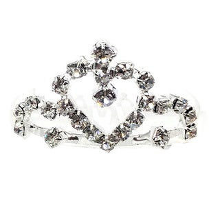Kate Marie Cwn-c7817 Rhinestone Silver Crown Tiara Comb