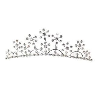 Kate Marie Cwn-c8293 Rhinestone Silver Crown Tiara Comb