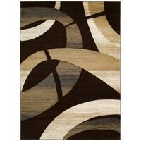 LYKE Home Hand-woven Chocolate Abstract Area Rug (8 x 11)