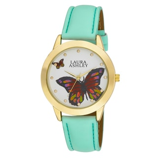Laura Ashley Ladies Gold Butterfly Dial Watch