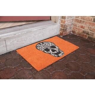 Skull Non Slip Coir Doormat