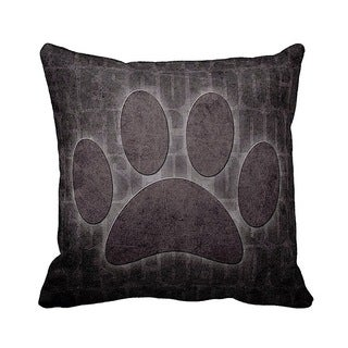 Rescue Dog Grunge 16-inch Black Throw Pillow
