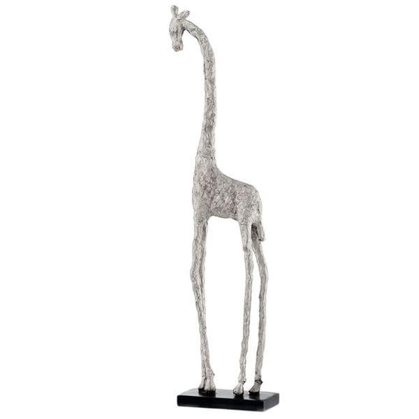 Jirafa Tall Standing Silver Giraffe